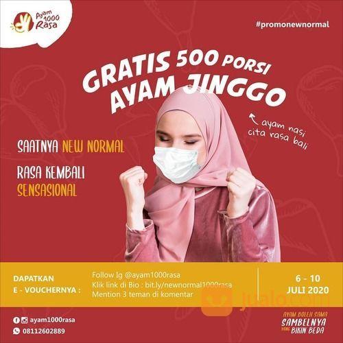 AYAM 1000 RASA PROM OGRATIS 500 PORSI SYARAT KETENTUAN BERLAKU (27869963) di Kota Jakarta Selatan