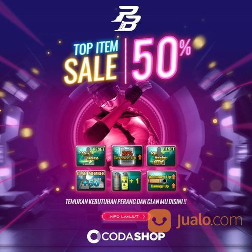 Codashop DISKON 50% Item Point Blank (27870875) di Kota Jakarta Selatan