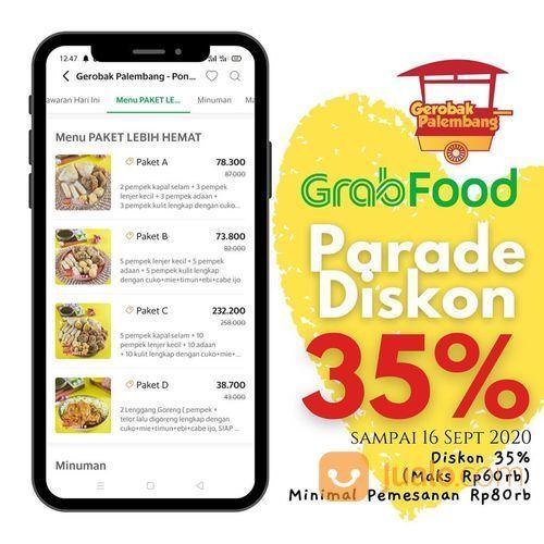 GEROBAK PALEMBANG Diskon 35% maksimal 60rb , minimal order 80rb (27886923) di Kota Jakarta Selatan