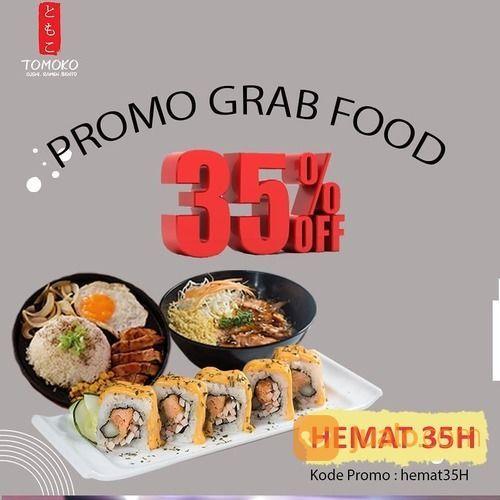 SUSHI TOMOKO PROMO GRABFOOD 35% OFF (27893219) di Kota Jakarta Selatan