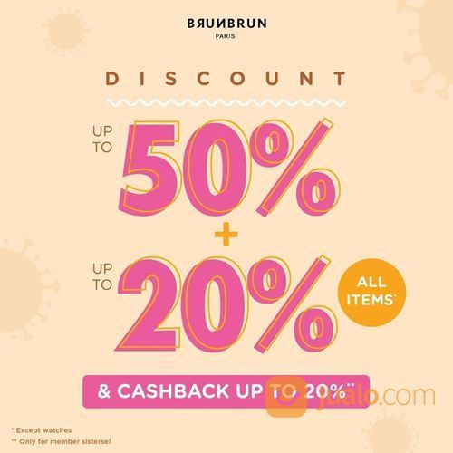 BRUNBRUN PARIS Discount up to 50% + up to 20% ALL ITEMS (27893507) di Kota Jakarta Selatan