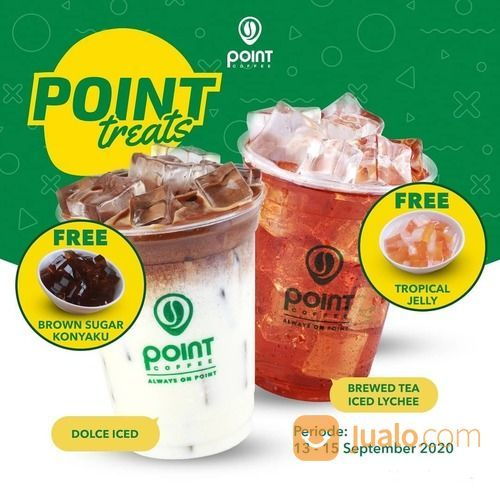 Point Coffee GRATIS Brown Sugar Konyaku/Tropical Jelly setiap pembelian Brewed tea iced (27897011) di Kota Jakarta Selatan