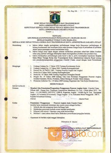 Jasa Kepengurusan Dan Perpanjangan Surat Izin Layak Operasi Silo Crawler Crane (27920943) di Kota Bekasi