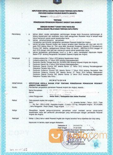Izin Silo Riksa Uji Forklift Dan Pesawat Angkat Angkut Lainnya (27922835) di Kota Bekasi