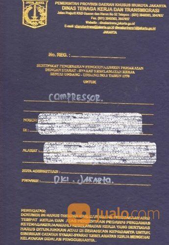 Kepengurusan Surat Izin Layak Operasi Izin Alat Compressor Disnaker (27923139) di Kota Bekasi