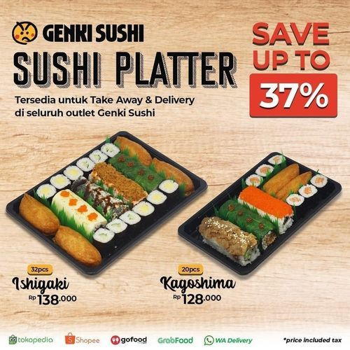 Genki Sushi Platter Save Up To 37% (27929327) di Kota Jakarta Selatan
