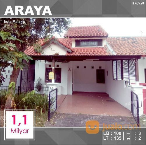 Rumah 2 Lantai Luas 135 Di PBI Araya Kota Malang _ 465.20 (27993951) di Kota Malang