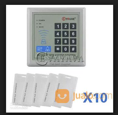 INTGO 125KHz Door RFID Card Password Access Controller Keypad +10 ID Card Reader (28069707) di Kota Jakarta Timur