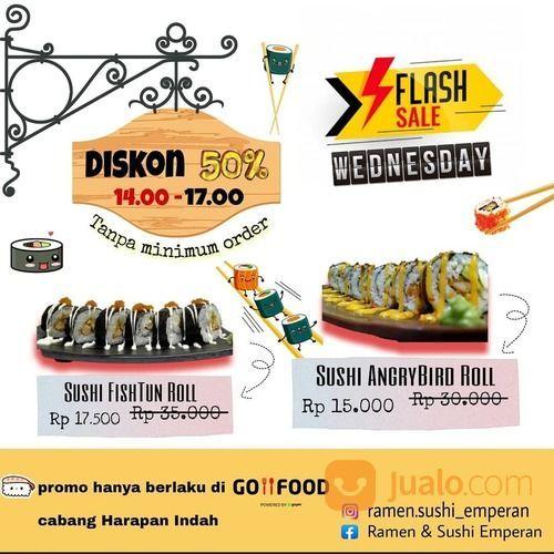 Ramen & Sushi Emperan Diskon 50% untuk menu Sushi FishTun Roll dan Sushi AngryBird Roll (28073007) di Kota Jakarta Selatan