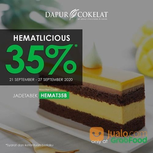 Dapur Cokelat Kode Promo HEMATLICIOUS 35% di Grabfood (28073039) di Kota Jakarta Selatan