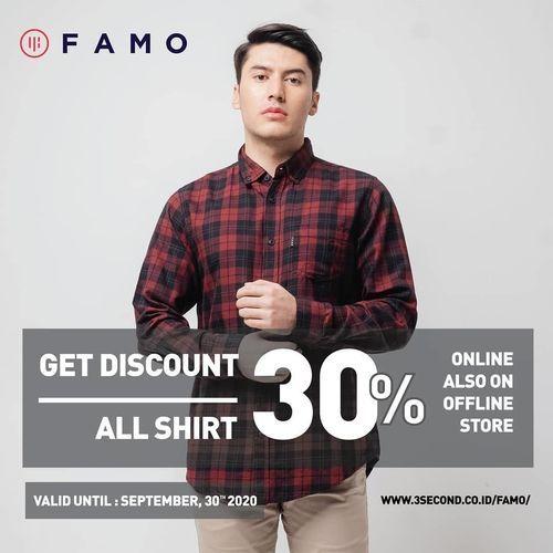 FAMO Get Discount 30% Off All Shirt (28081419) di Kota Jakarta Selatan