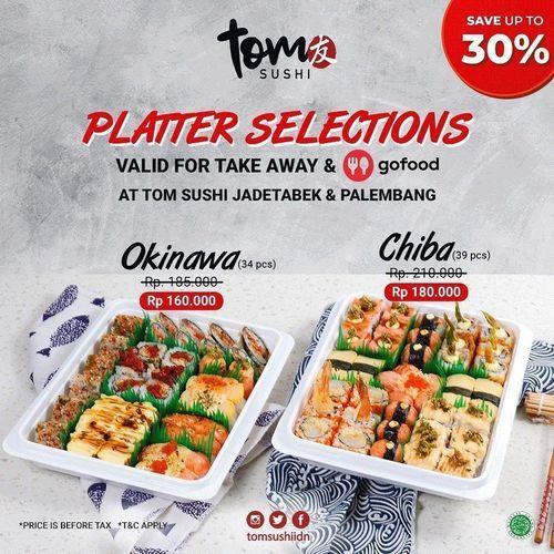 Tom Sushi Platter Selections 30% Off (28081499) di Kota Jakarta Selatan