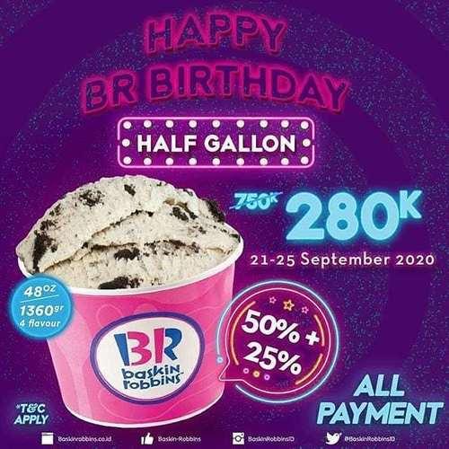 Baskin Robbins Half Gallon 280K (28081575) di Kota Jakarta Selatan