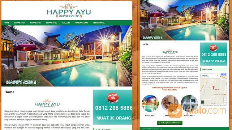 Jasa Pembuatan Website Homestay Guesthouse Sederhana Cuma 490rb (28098291) di Kab. Sleman