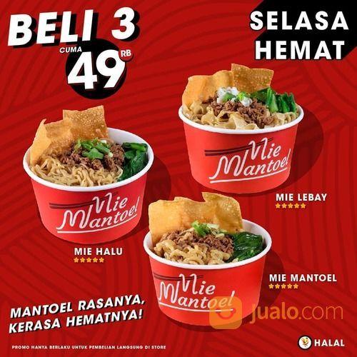 MIE MANTOEL SELASA HEMAT, 3 MIE ukuran CANTIK hanya 49ribu (28108355) di Kota Jakarta Selatan