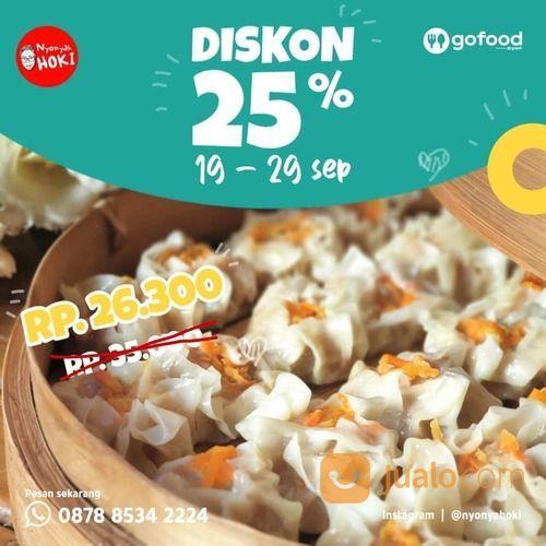 Nyonya Hoki Dimsum Diskon 25% via Gofood (28108507) di Kota Jakarta Selatan