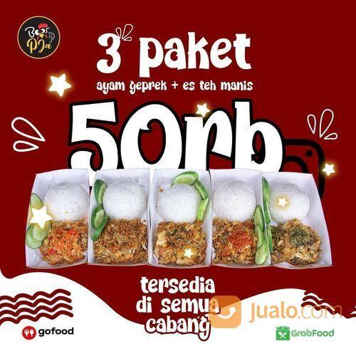 BOOS PJEE HANYA 50RB Dapat 3 paket ayam geprek FREE 3 ES TEH MANIS (28108535) di Kota Jakarta Selatan