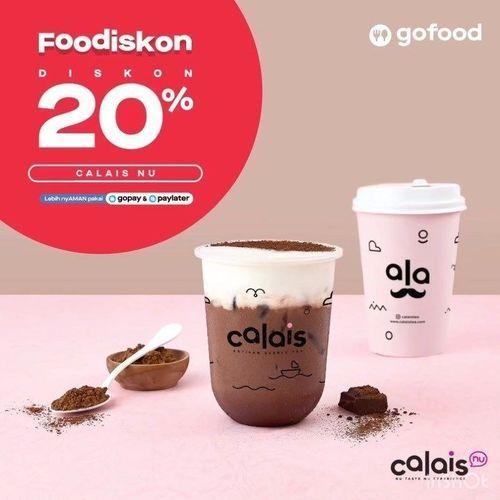 Calais Bubble Tea Foodiskon 20% (28119719) di Kota Jakarta Selatan