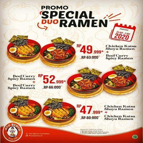 Oto Bento Japanase Restaurant Special Ramen Promo (28120051) di Kota Jakarta Selatan