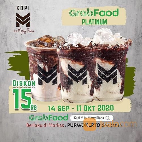MARKAS KOPI M PROMO GRABFOOD Promo Platinum diskon 15 Ribu rupiah (28131059) di Kota Jakarta Selatan