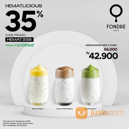 FONDRE CAFE DALGONA BER-3 CUMA 40RB! KODE PROMO GRABFOOD (28134491) di Kota Jakarta Selatan