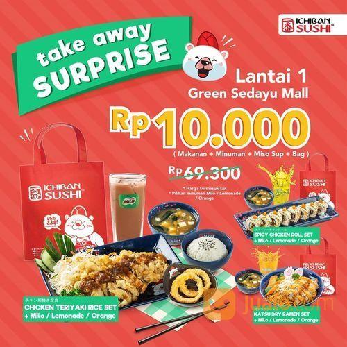 TAKEAWAY SURPRISE dari Ichiban Sushi Green Sedayu Mall (28135479) di Kota Jakarta Selatan