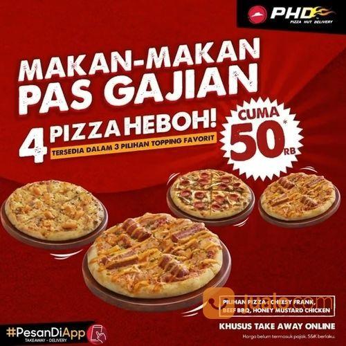 PHD PROMO Beli 4 pizza HEBOH lebih hemat! Cuma 50ribuan aja! (28140011) di Kota Jakarta Selatan