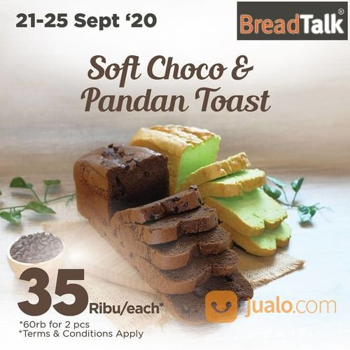 BreadTalk Favorite Soft Toast, now only 35rb/pc. Special 2pcs only 60rb* (28163391) di Kota Jakarta Selatan