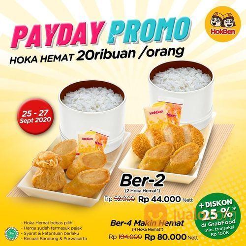 HokBen Promo Payday HOKA HEMAT 20k/orang (28164007) di Kota Jakarta Pusat