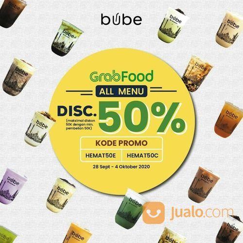 BUBE diskon 50% untuk pembelian Bube di GrabFood (28165299) di Kota Jakarta Selatan