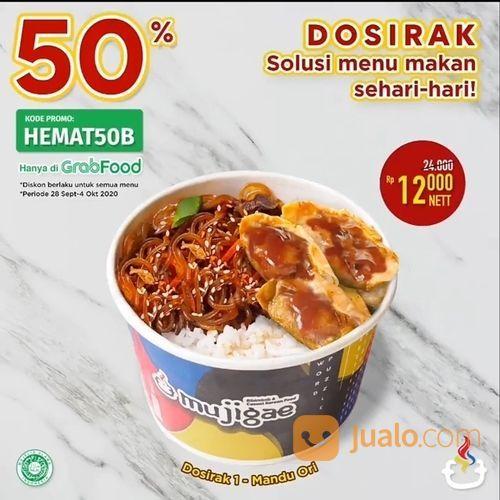 MUJIGAE Nikmati berbagai varian Dosirak pake Diskon 50% di aplikasi Grabfood! (28165339) di Kota Jakarta Selatan