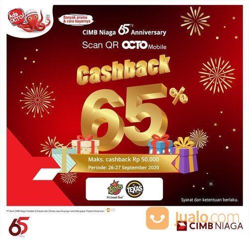 TEXAS CHICKEN x Happy 65th Anniversary CIMB Niaga! Promo Cashback 65% max 50,000! (28169323) di Kota Jakarta Selatan