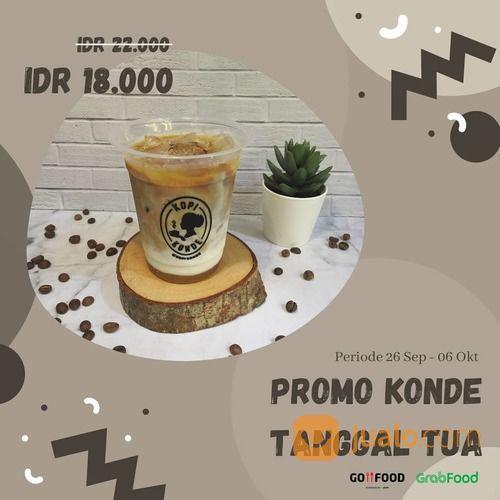 KOPI KONDE Promo tanggal tua untuk Es Kopi Susu Konde! via Gofood / Grab Food (28169327) di Kota Jakarta Selatan