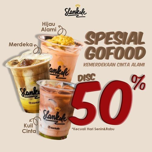 Slankafe Promo Spesial Gofood 50% Off (28169903) di Kota Jakarta Selatan