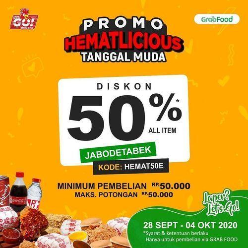Lets Go Chicken Promo Hematlicious Diskon 50% (28170007) di Kota Jakarta Selatan
