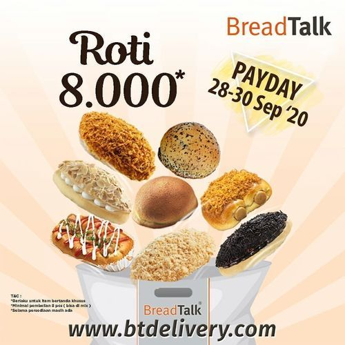 Breadtalk Promo Payday Roti 8.000 (28170051) di Kota Jakarta Selatan