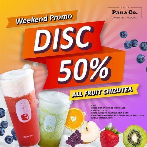 Pan&Co PROMO! ALL FRUIT CHIZUTEA DRINKS Disc 50% (28170067) di Kota Jakarta Selatan
