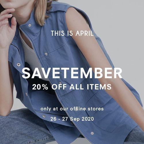 This Is April Savetemer 20% Off All Items (28190183) di Kota Jakarta Selatan