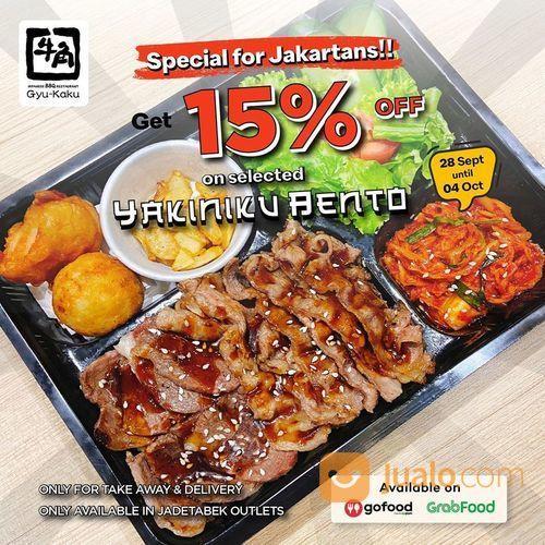Gyu-Kaku Promo POTONGAN 15% untuk selected bento set* (28198447) di Kota Jakarta Selatan