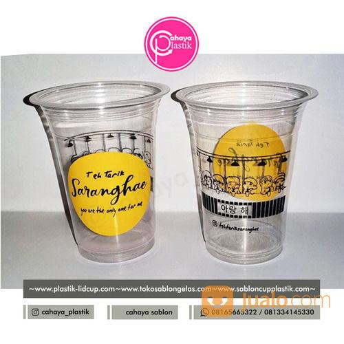 Sablon Gelas Plastik Cup 14 Oz 6 Gram Tanpa Tutup (TAKE AWAY KOPI KEKINIAN) (28202299) di Kota Malang