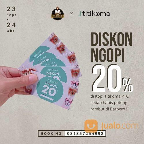 Barbero Barbershop x Kopi Titikoma PROMO Voucher Diskon 20%* (28203691) di Kota Jakarta Selatan