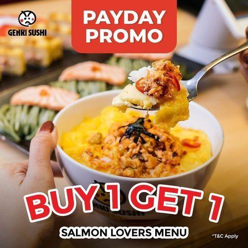 Genki Sushi Payday Promo Buy 1 Get 1 Salmon Lovers (28211051) di Kota Jakarta Selatan