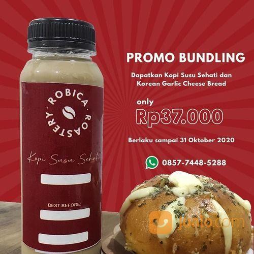 Robica Roastery Promo BUNDLING Kopi Susu Sehati dari Robica Roastery dan Korean Garlic Cheese Bread (28255691) di Kota Jakarta Selatan
