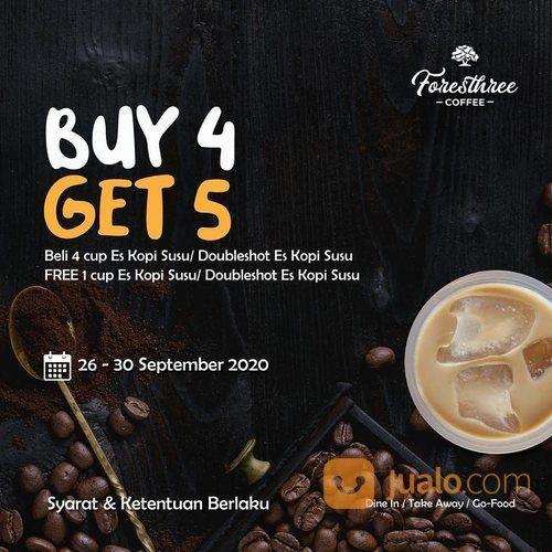 Foresthree Coffee BUY 4 GET 5 Es Kopi Susu/Es Kopi Susu Doubleshot (28255763) di Kota Jakarta Selatan