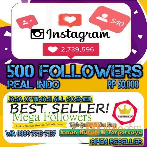 Instagram 500 Followers Indonesia (28274287) di Kota Jakarta Utara