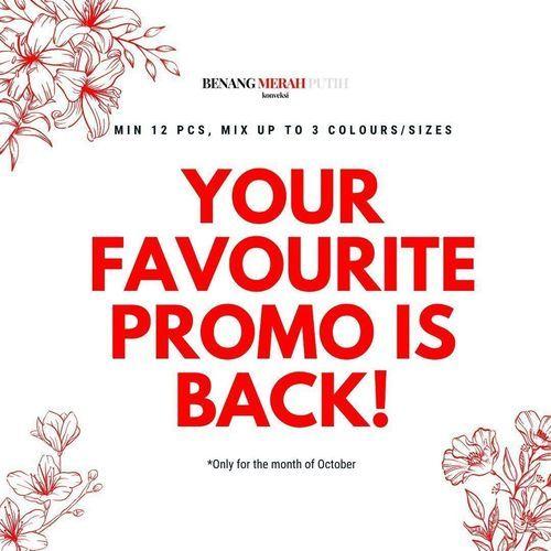 Benang Merah Putih Promo Is Back (28301987) di Kota Jakarta Selatan