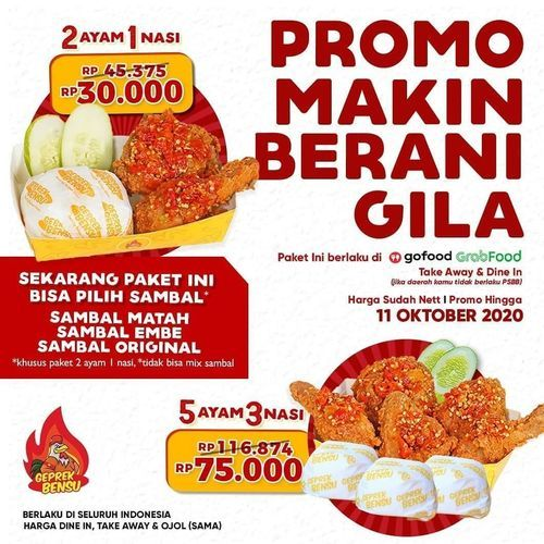 Geprek Bensu Promo Makin Berani Gila (28302031) di Kota Jakarta Selatan