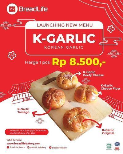 Breadlife K-Garlic Rp. 8.500 (28302427) di Kota Jakarta Selatan