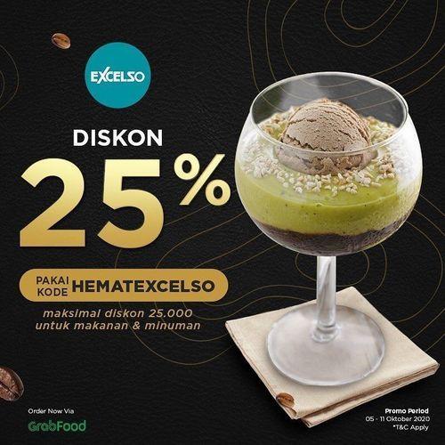 Excelso Coffee Diskon 25% Grabfood (28302715) di Kota Jakarta Selatan