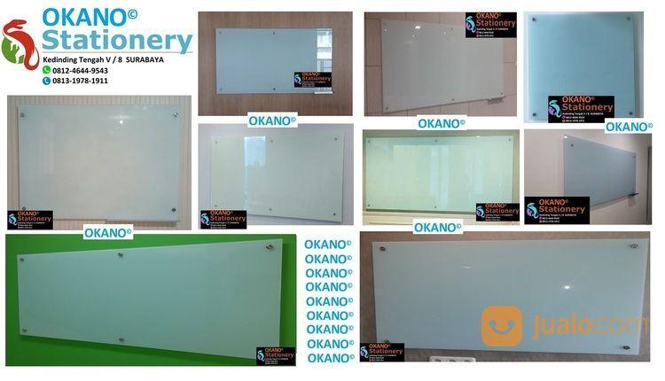 Papan Tulis Kaca Glassboard Non Magnet 90 X 120 Cm (28311831) di Kota Surabaya